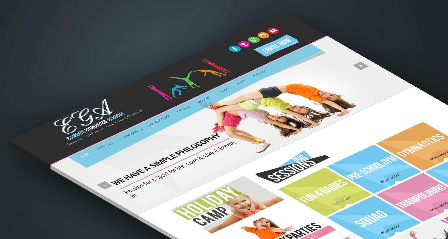 Ega Gymnastics Portfolio Web Design Portfolio Portfolio Design