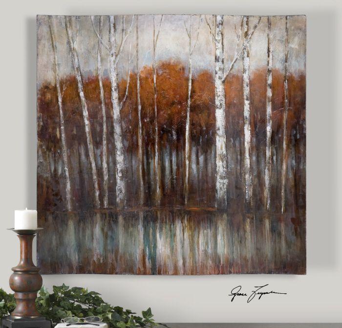 Uttermost Rippled Landscape Hand Painted Art 34215