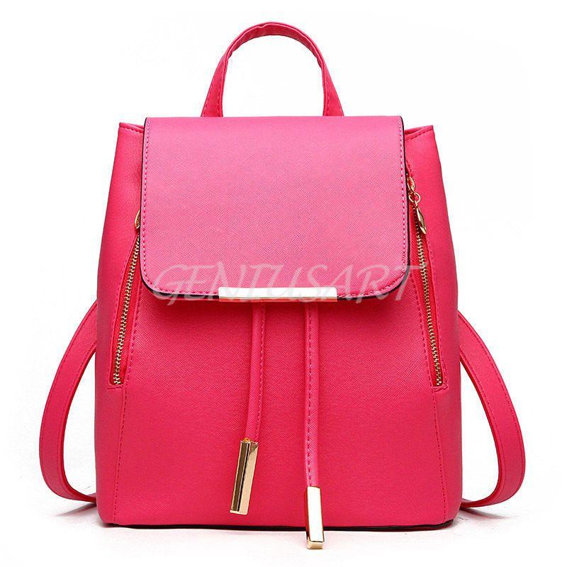 2b87ec8b23b Women-Girl-Backpack-Travel-PU-Leather-Handbag-Rucksack-Shoulder-School-Bag -New
