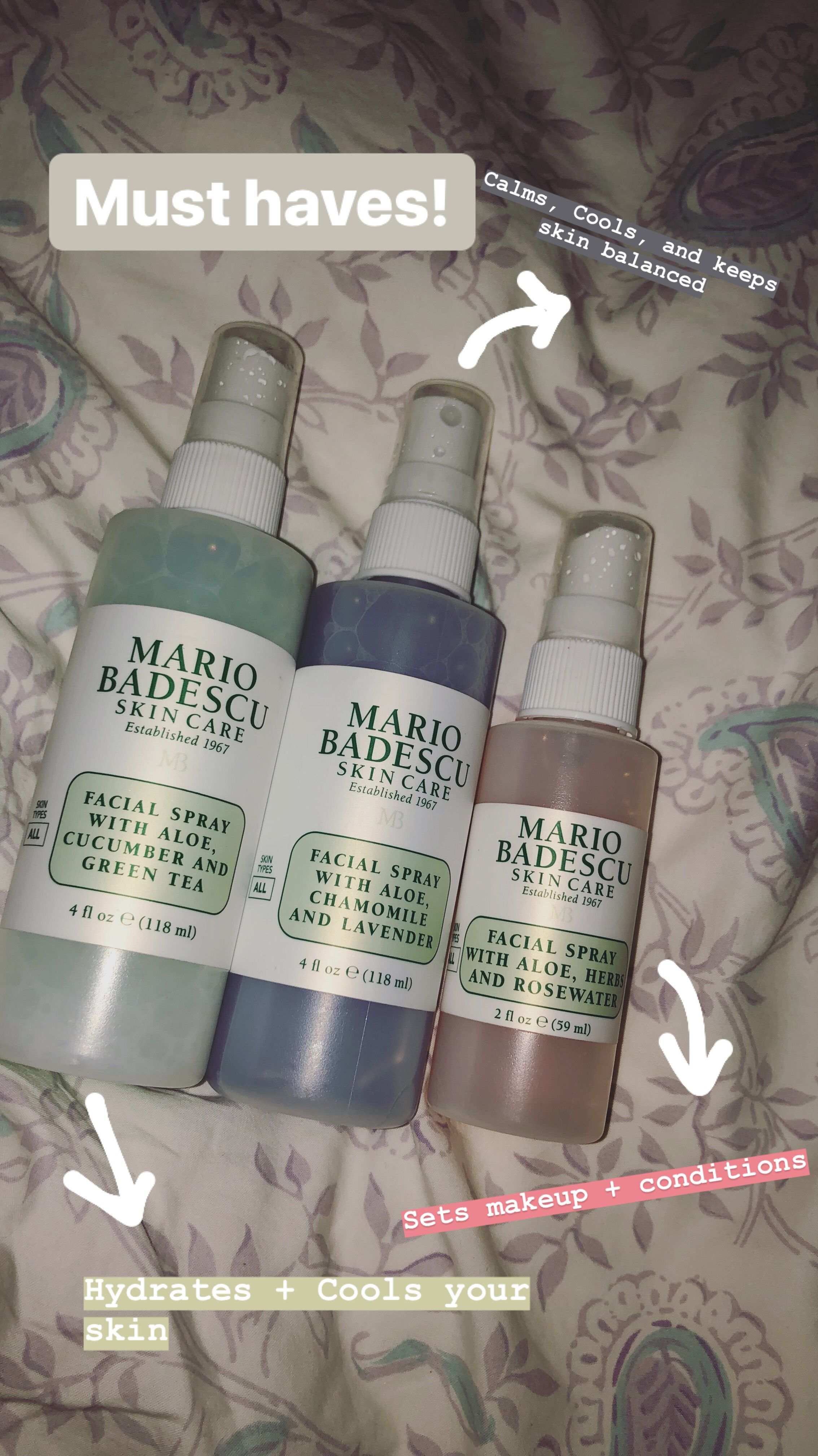 I Love These Facial Sprays From Mario Bedescu I Use Them