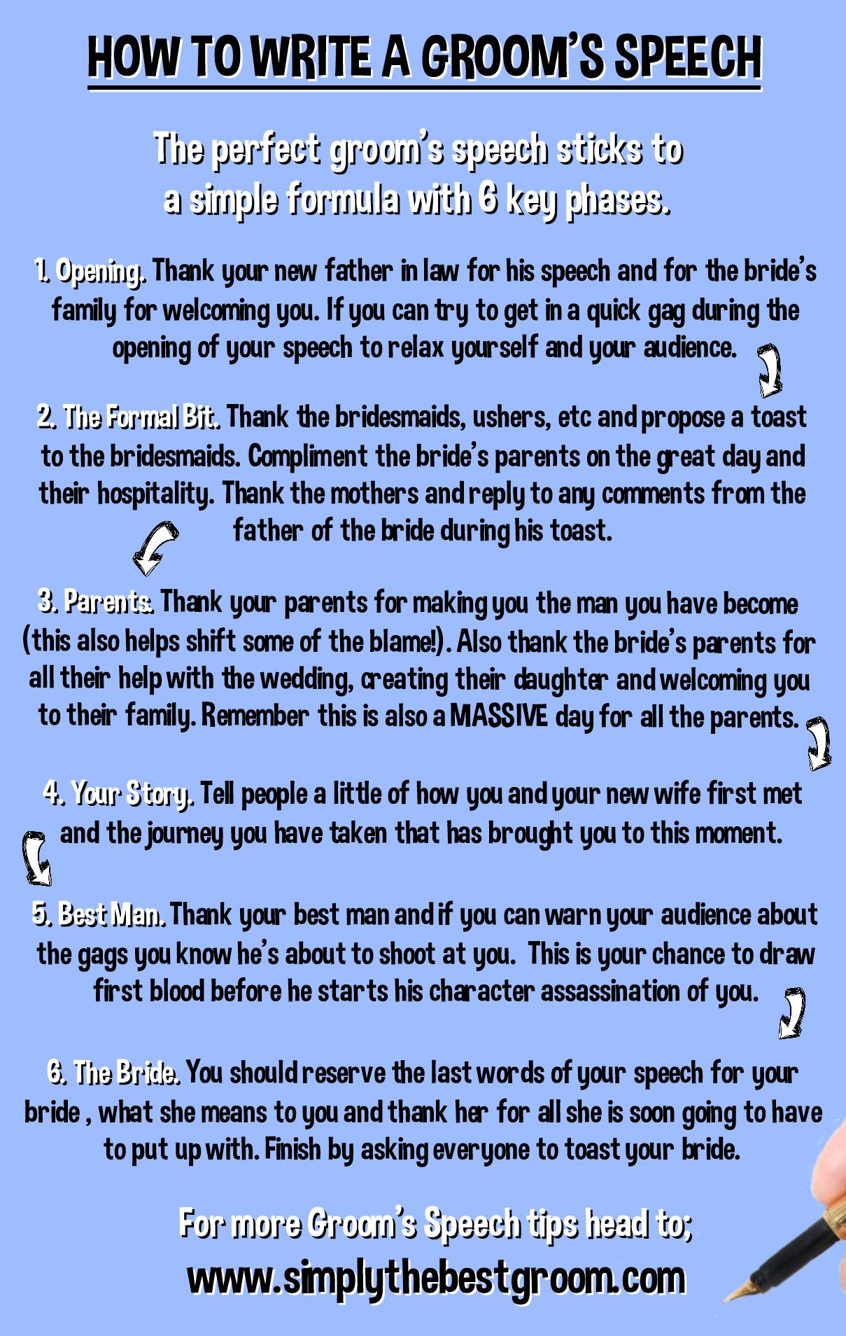 How to Write A Groom's Speech