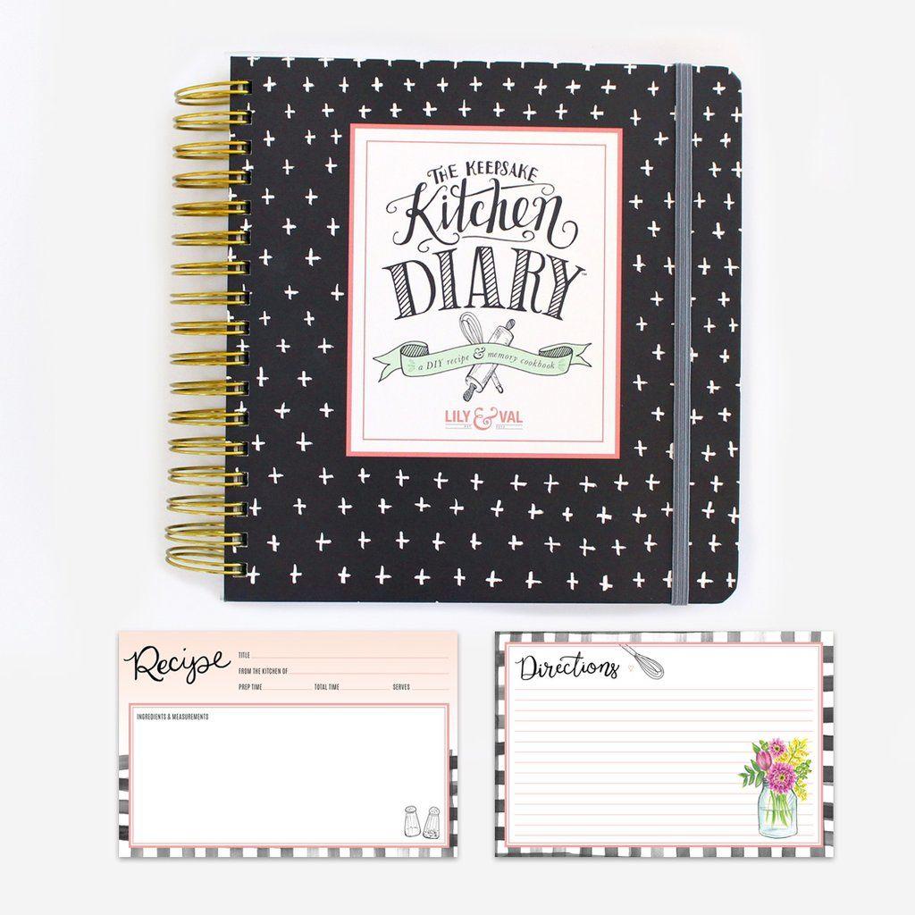 classic kitchen diary  u0026 recipe card bundle