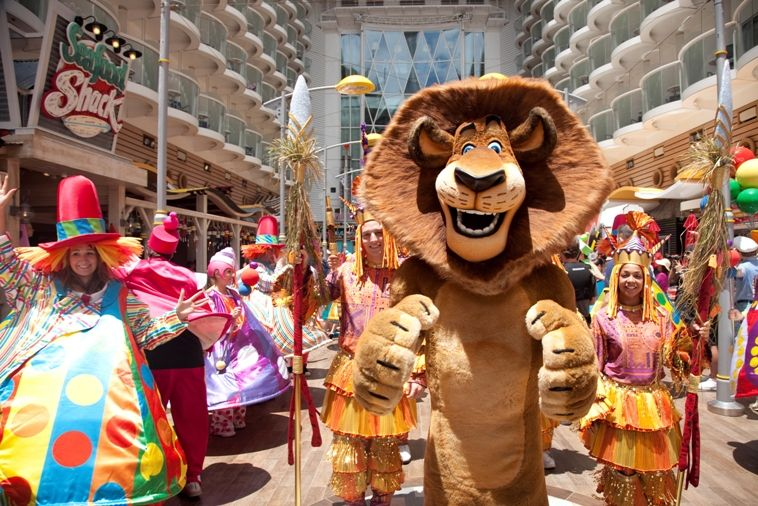 dreamworks brought to life aboard Royal Caribbean cruises, great for families!