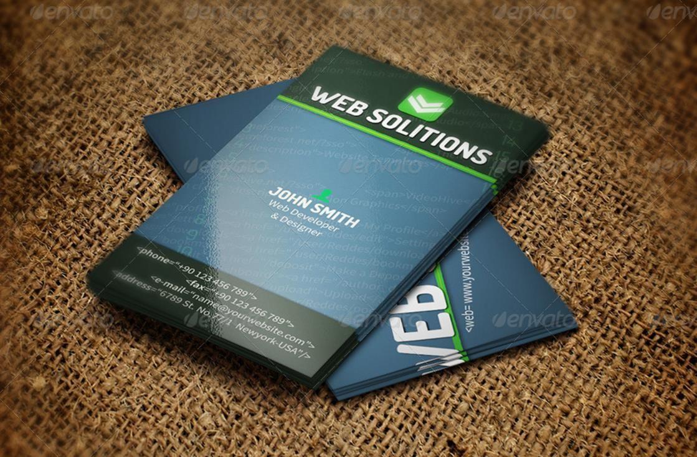Creative Web Developer Business Card Templates – PSD,Indesign,Ai ...