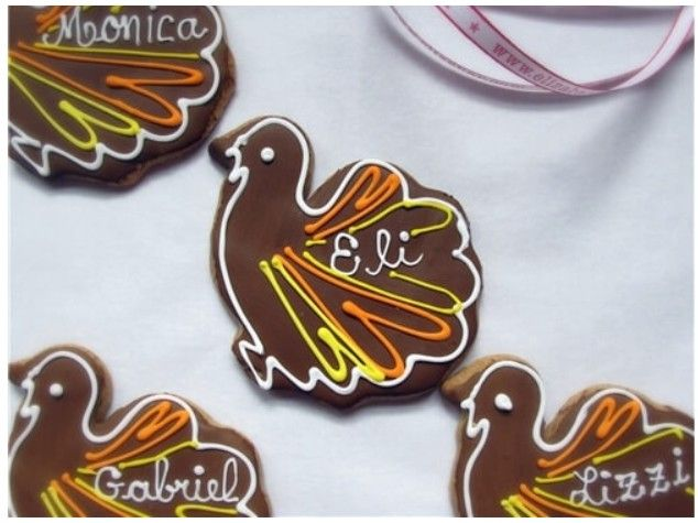Thanksgiving Place Card Cookies Thanksgiving Place Cards Holiday Menu Planning Holiday Party Foods