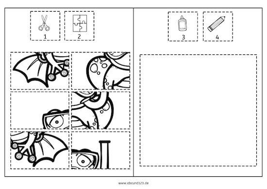 tag 3 puzzle daz vorschule arbeitsbl tter vorschule und schule. Black Bedroom Furniture Sets. Home Design Ideas