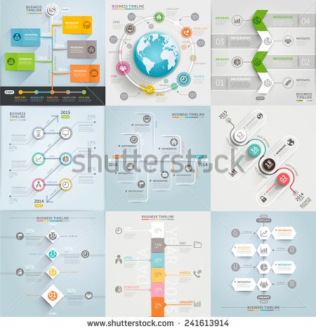 Business timeline elements template Vector illustration can be - business timeline template