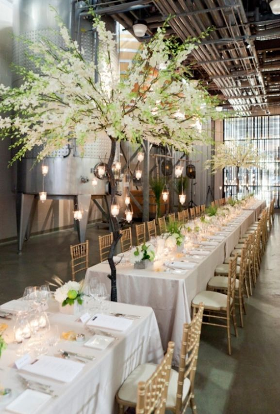 Wedding White Reception With Long Table Settings And Decoration Sets Ideas