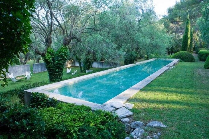 what a pool at a countryside french chateau should look