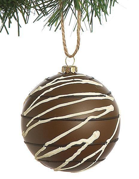 Chocolate Candy Ball Christmas Tree Ornament Chocolate Ornament Candy Ornaments Candy Balls