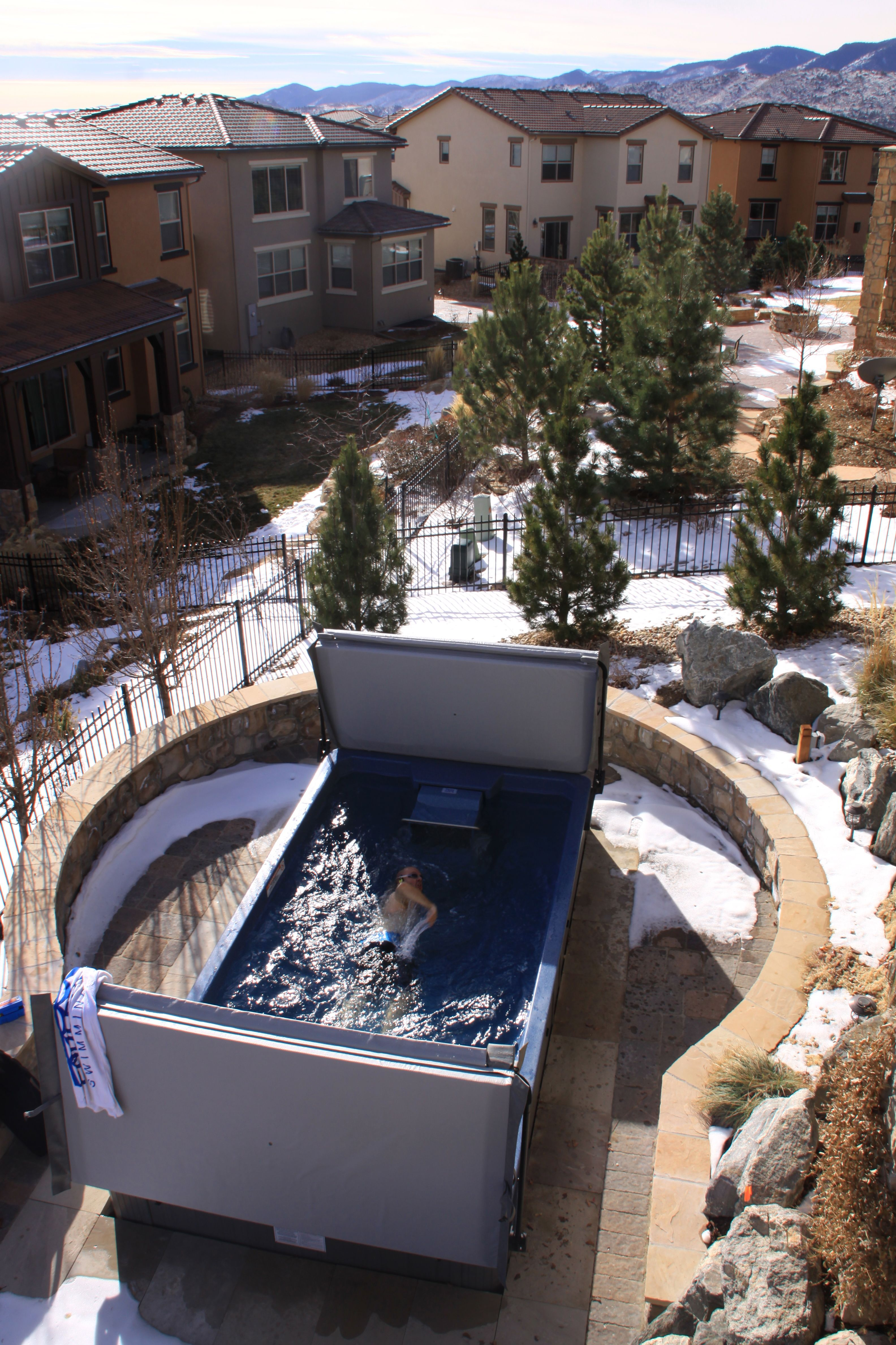 Surrounded by snow? Not a problem with the Endless Pool Swim ...