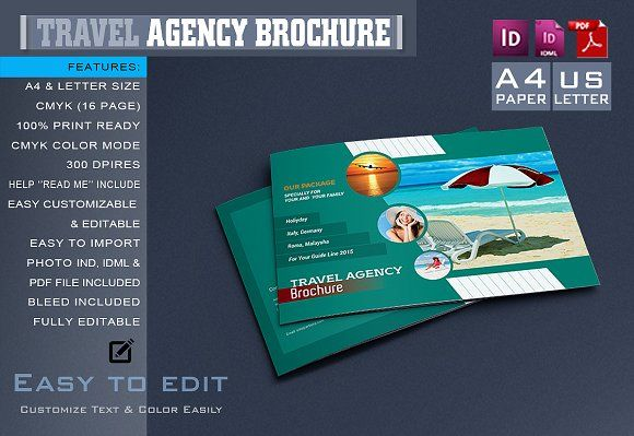 Travel Agency Brochure Creativework  Brochure Design