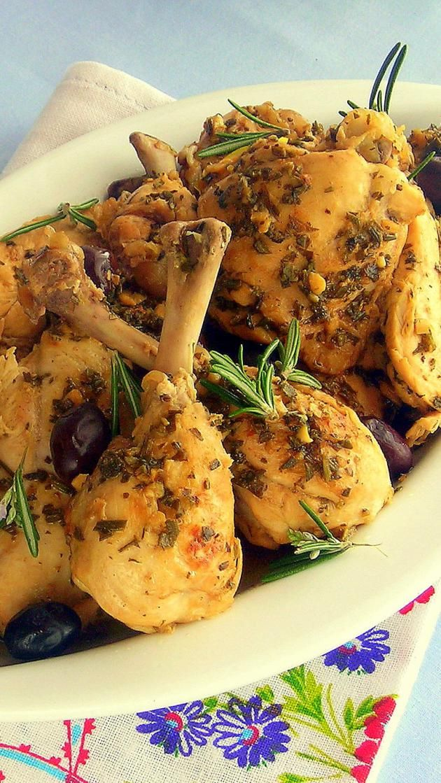 Pressure Cooker Braised Chicken with Black Olives and Lemon