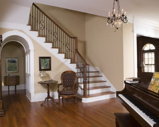 Entryway Foyer With Staircase : Foyer stairs entry design pictures remodel decor and