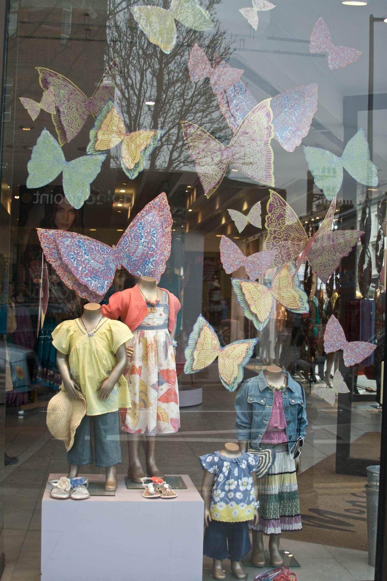 Butterflies Monsoon Window Display Pinterest Display