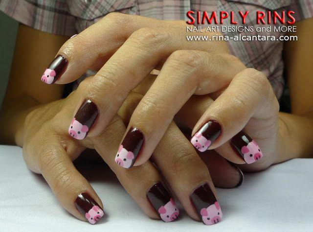 Little Pink Pigs Nail Art Design 05 - Little Pink Pigs Nail Art Design 05 Nail That Look Pretty