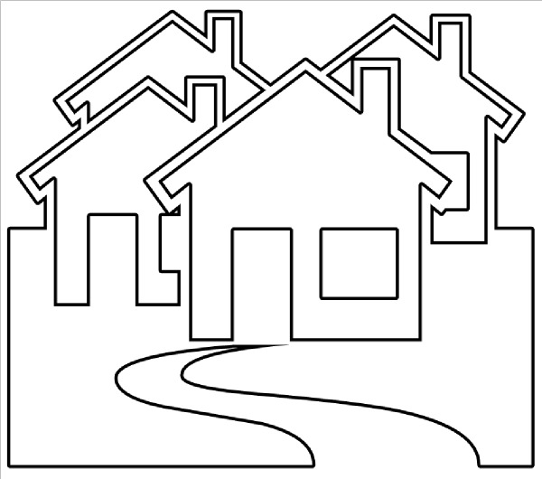 house black and white clip art house outline black and white clipart rh pinterest com haunted house clipart black and white dog house clipart black and white