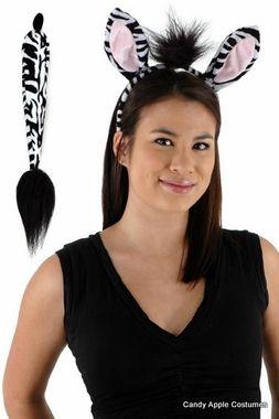 Zoo Animal Ears /& Tail Cheetah Ears /& Tail Faux Fur Fancy Dress Kids /& Adults