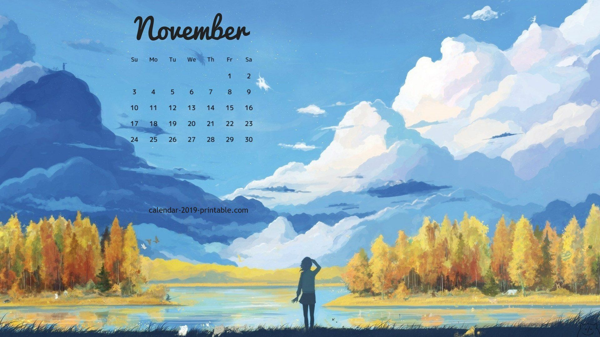 november 2019 pc calendar wallpaper Landscape wallpaper