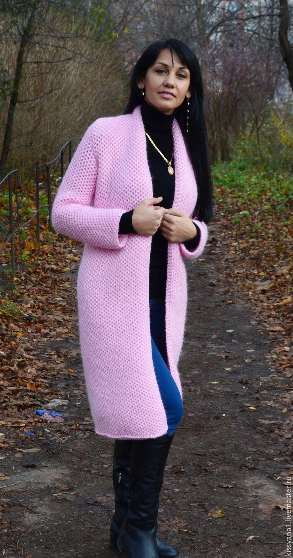 купить кардиган в стиле лало Pink розовый кардиган вязание на