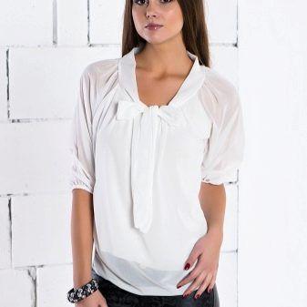 Модели блузок (176 фото): с длинным рукавом, коротким и без рукавов, трикотажные, из хлопка, шелка, шифона, летние 88