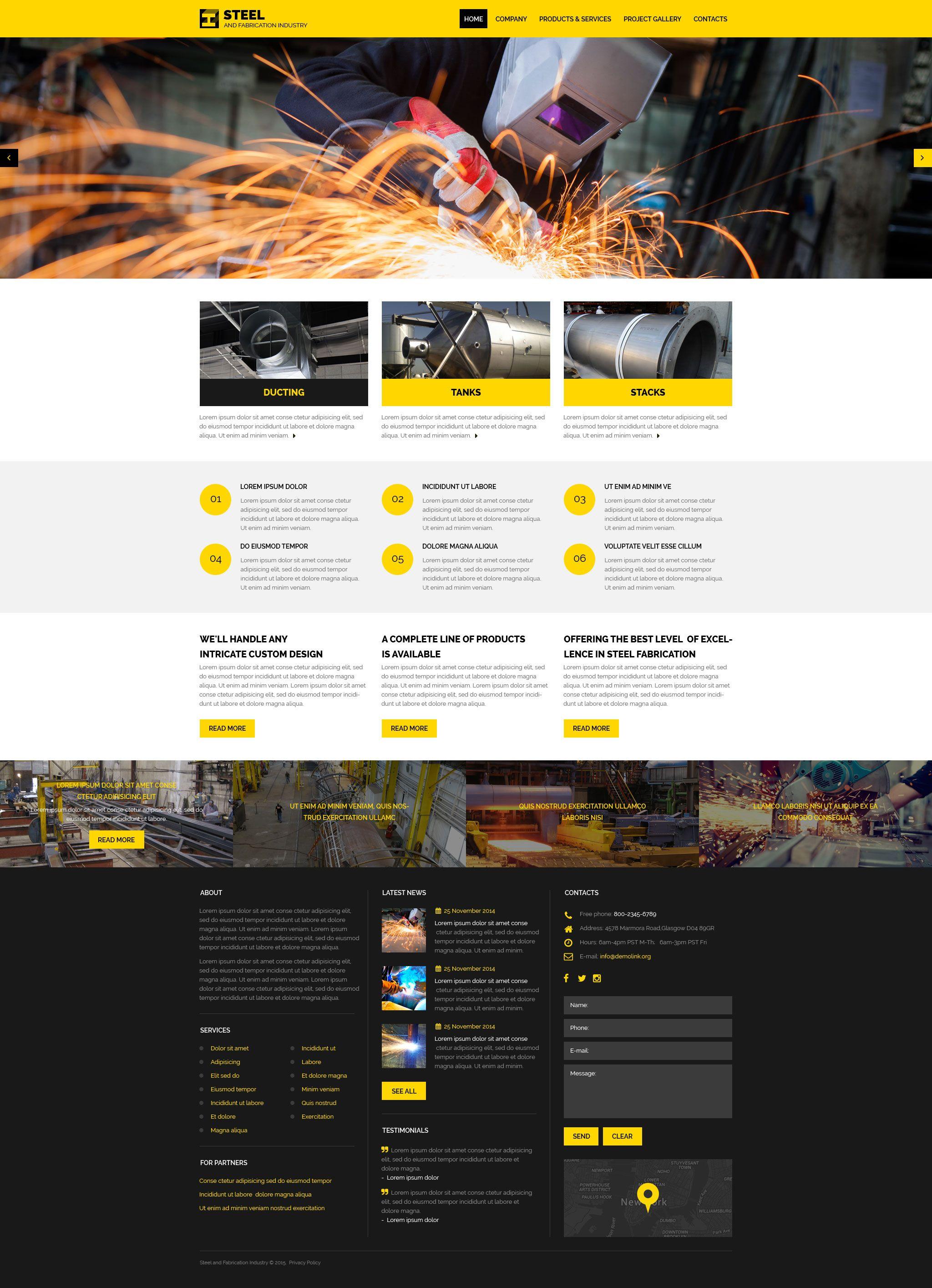 Industrial Website Template Responsive Website Template Website Template Portfolio Website Template