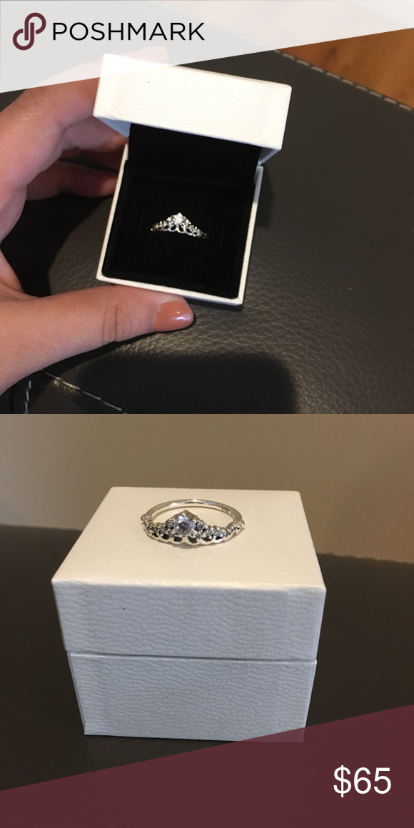 205ab0de2 Pandora Fairytale Tiara Ring, Size 7.5 Bought for myself as a gift, didn't  like how it looked with my other rings! Wore like 2-3 times. Size 7.5 :)  Pandora ...