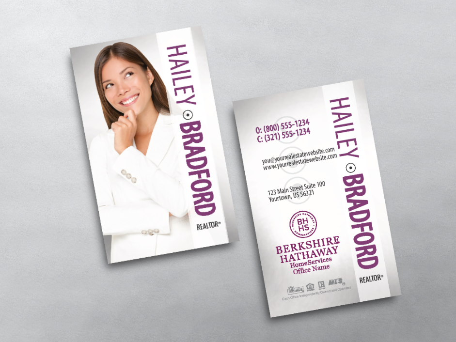 Order Berkshire Hathaway Business Cards Free Shipping Design Templates Be Keller Williams Business Cards Realtor Business Cards Business Card Inspiration
