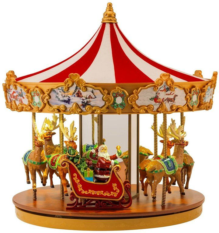 mr christmas very merry light up musical carousel ad