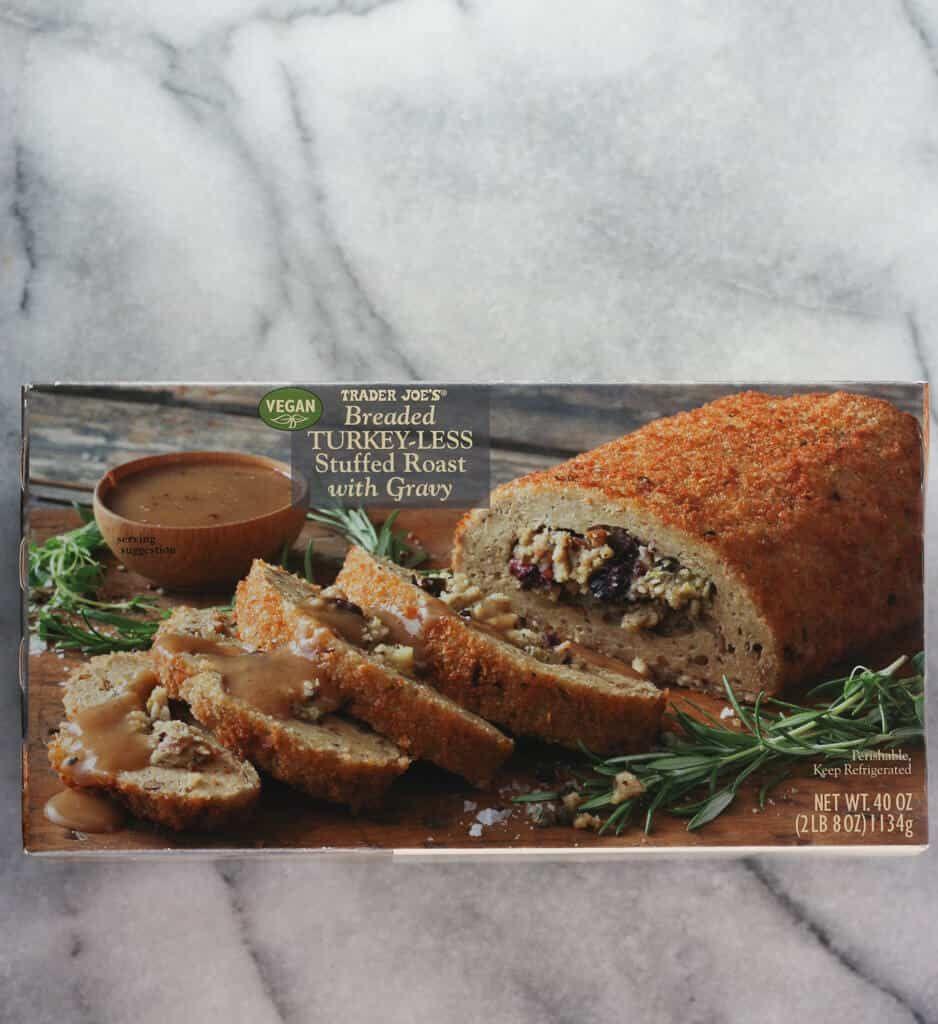 Trader Joe S Breaded Turkey Less Stuffed Roast In 2020 Trader Joes Bread Trader Joes Vegan Trader Joes Vegetarian