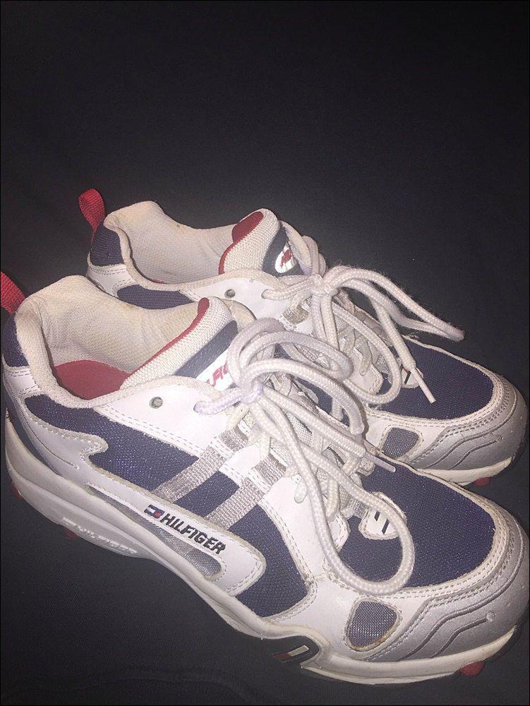 Vintage 90's Tommy Hilfiger Athletics Men's Shoes Sneaker - Size 8.5 Near Mint by RackRaidersVtg on Etsy