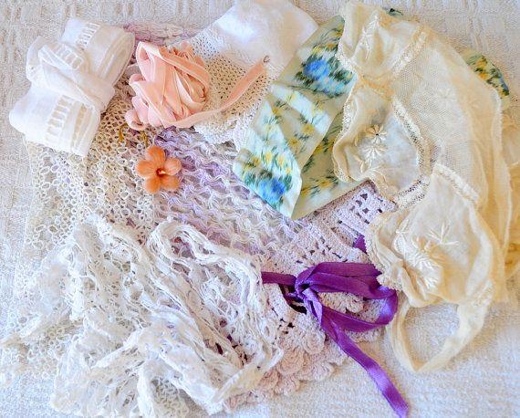 Eye candy vintage crochet bonnettattinglace by lacemonster816,