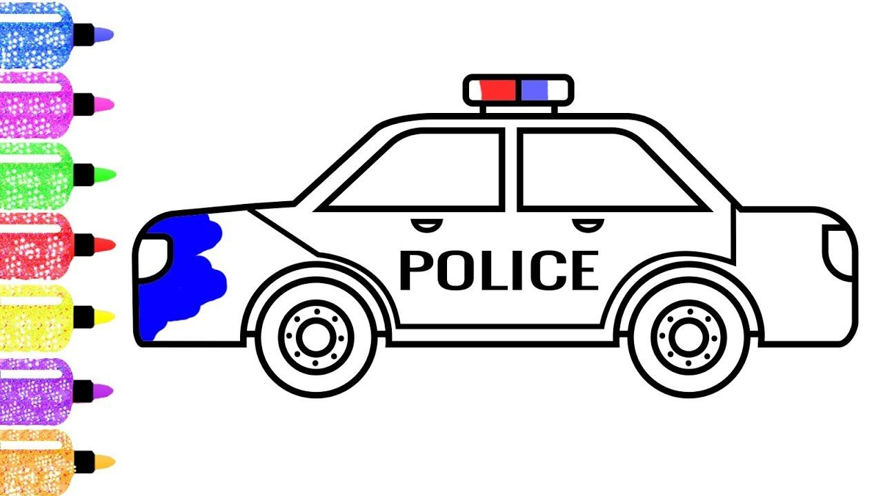 How to Draw a Police Car for Kids - Police Car Glitters ...