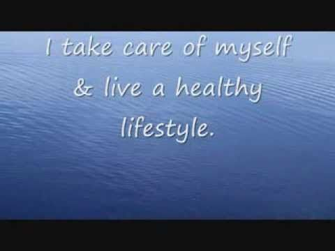 Affirmation: I take care of myself and live a healthy lifestyle.   This affirmation is read verbally once before being sped up and repeated supraliminally two hundred additional times in various formats.  For Best Results: Listen to the recording while saying the affirmations to yourself and visualizing the outcome you desire.  For more information, or to make a request, please visit my blog at ManifestChange.Blogspot.com
