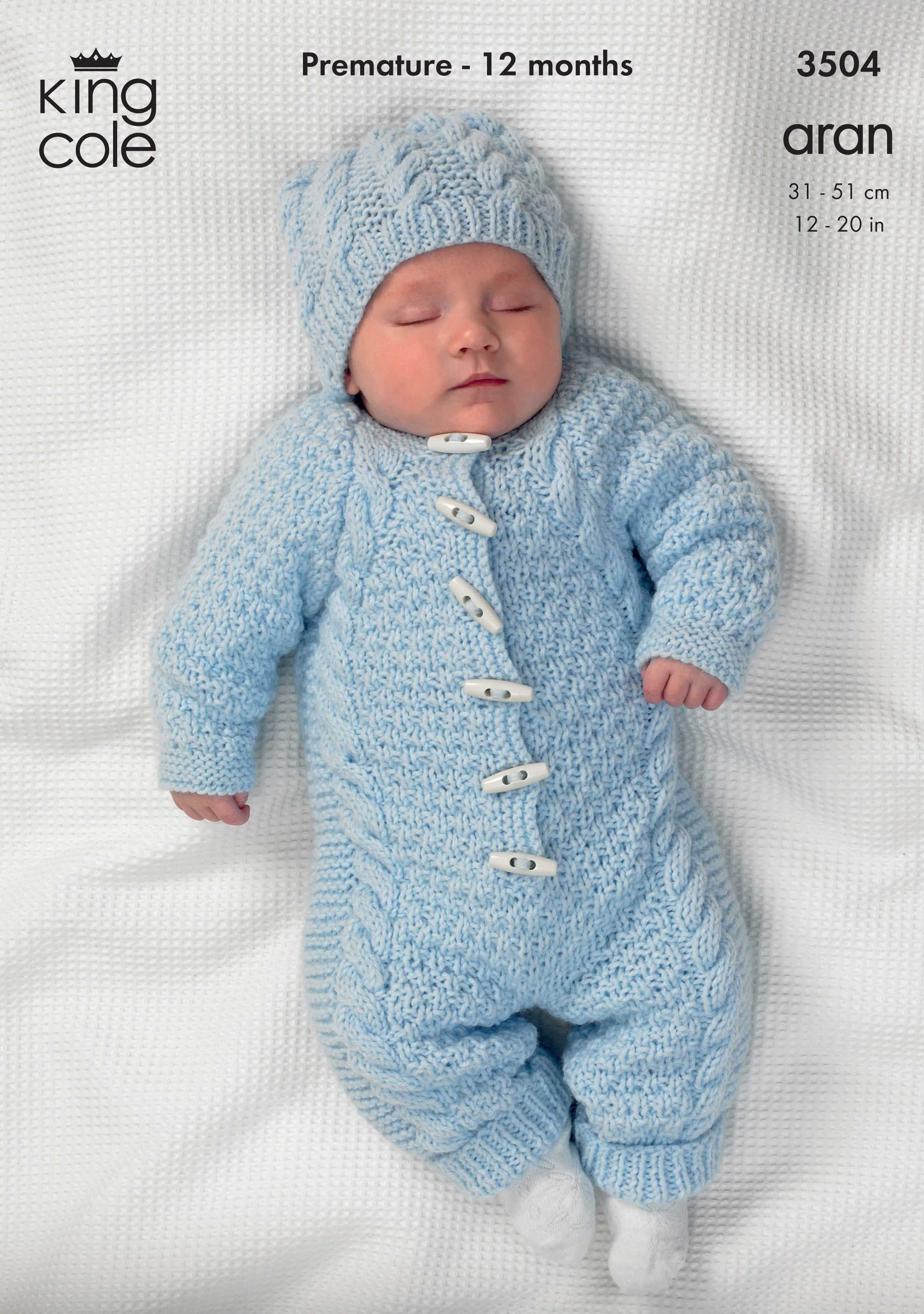 Knitted baby romper suit king cole knitting patterns king cole baby all in one onesie comfort knitting pattern 3504 aran bankloansurffo Image collections