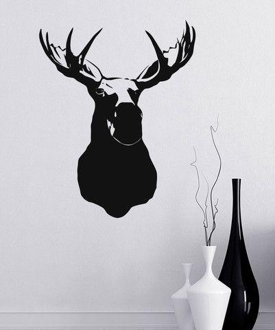 moose head silhouette - Google Search