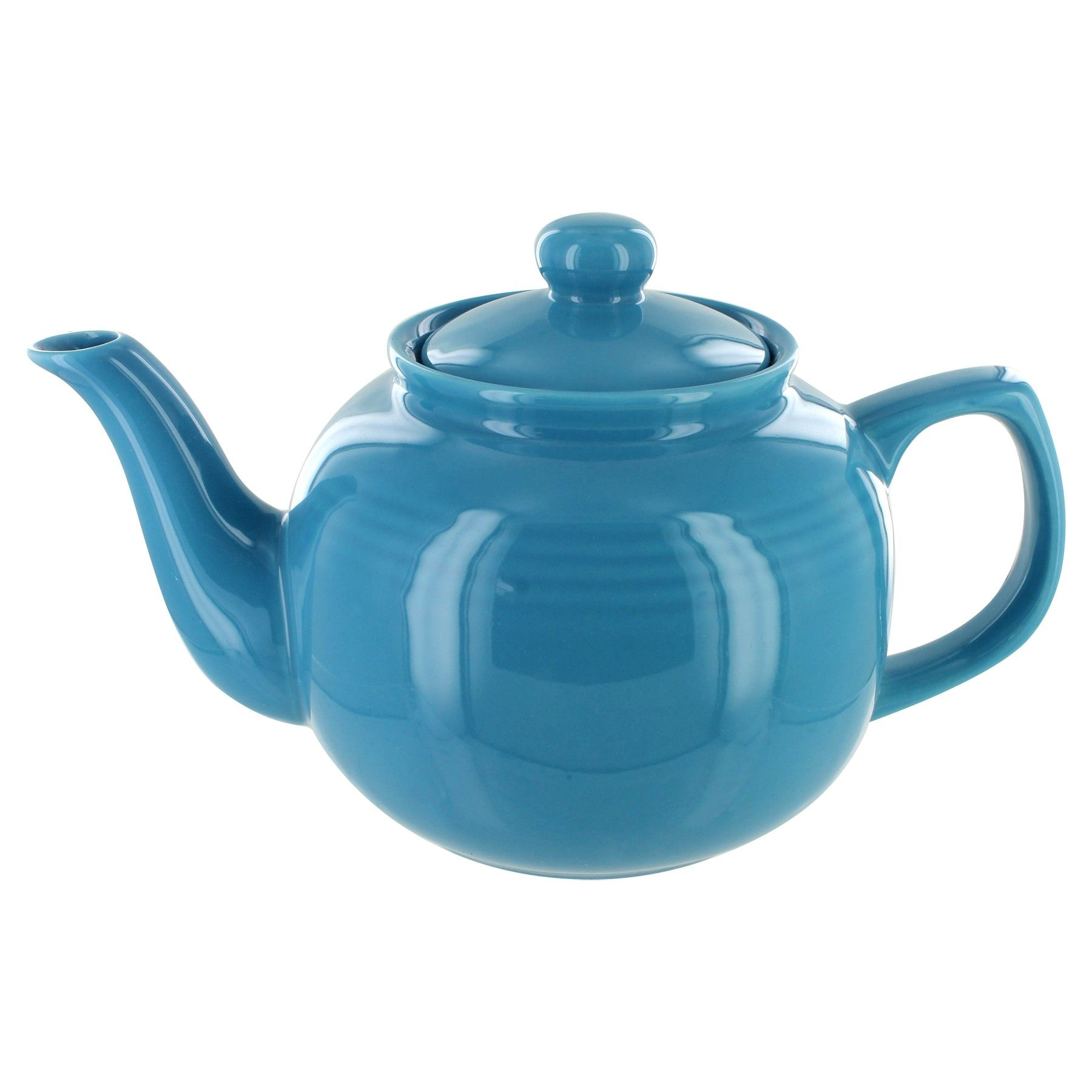 Red Gloss Finish English Tea Store 6 Cup Porcelain Teapot
