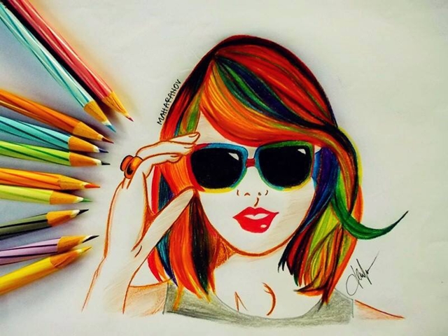 40 Creative And Simple Color Pencil Drawings Ideas in 2020 ...