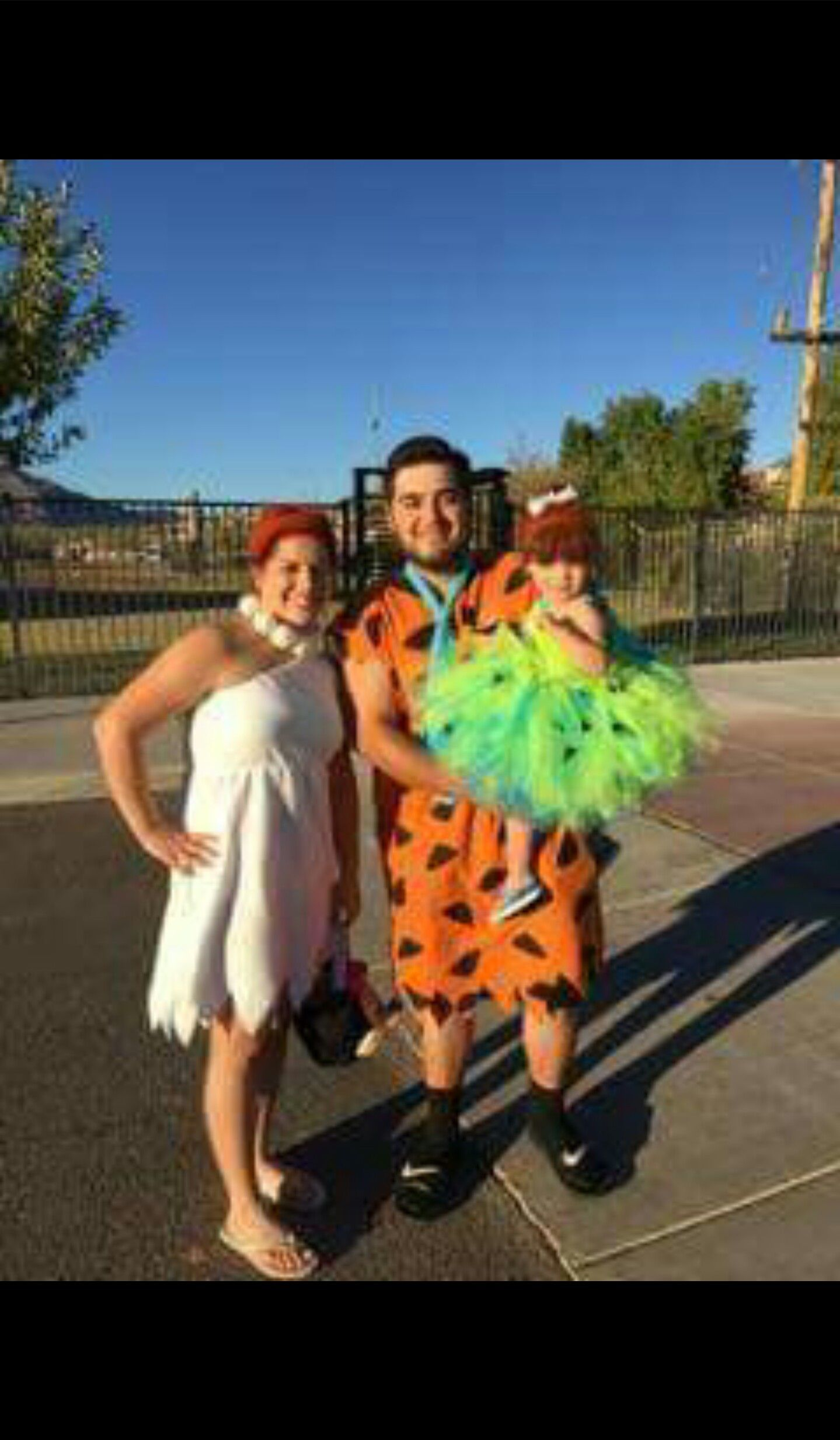 Family Halloween Costume Flintstones 2 years old Family