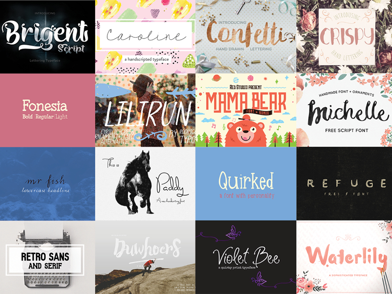 Download The HungryJPEG's Free Font Bundle on Behance | Free font ...