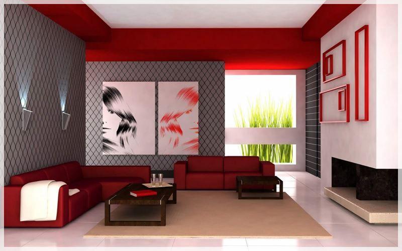 10 idees de salon gris et rouge salon