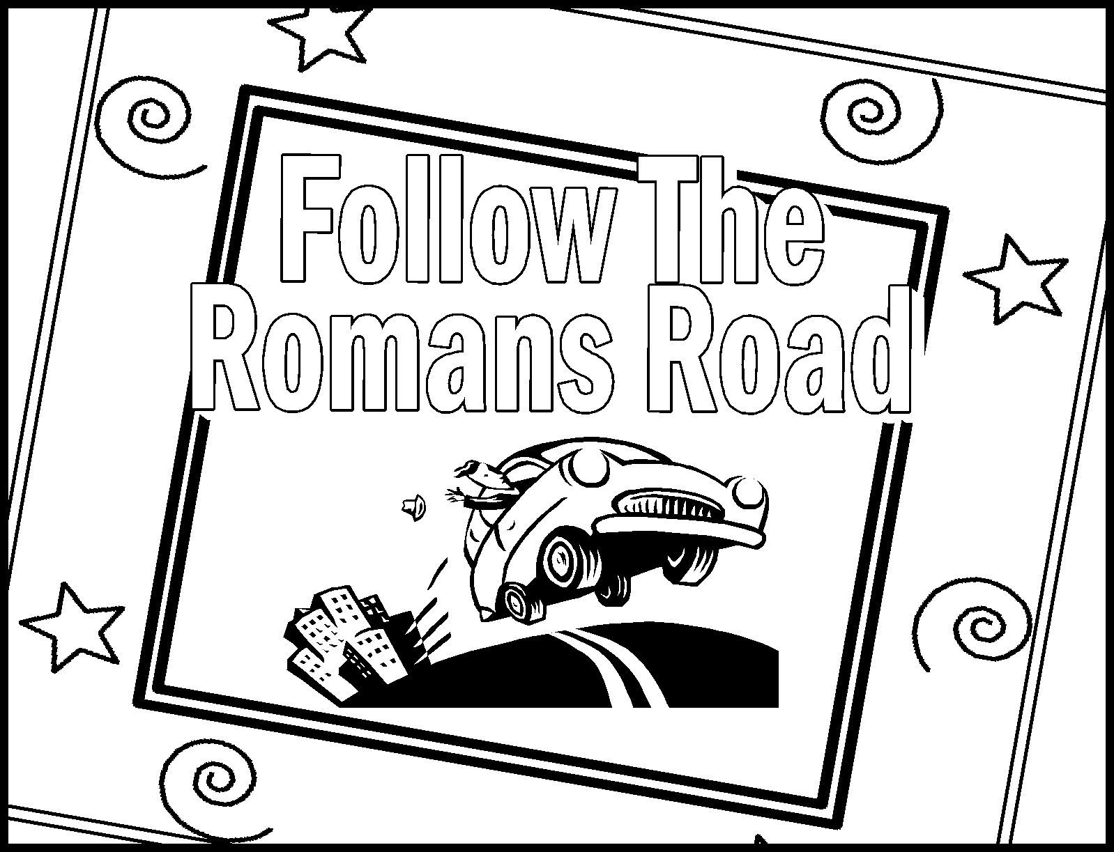Childrens Gems In My Treasure Box: Romans Road Coloring