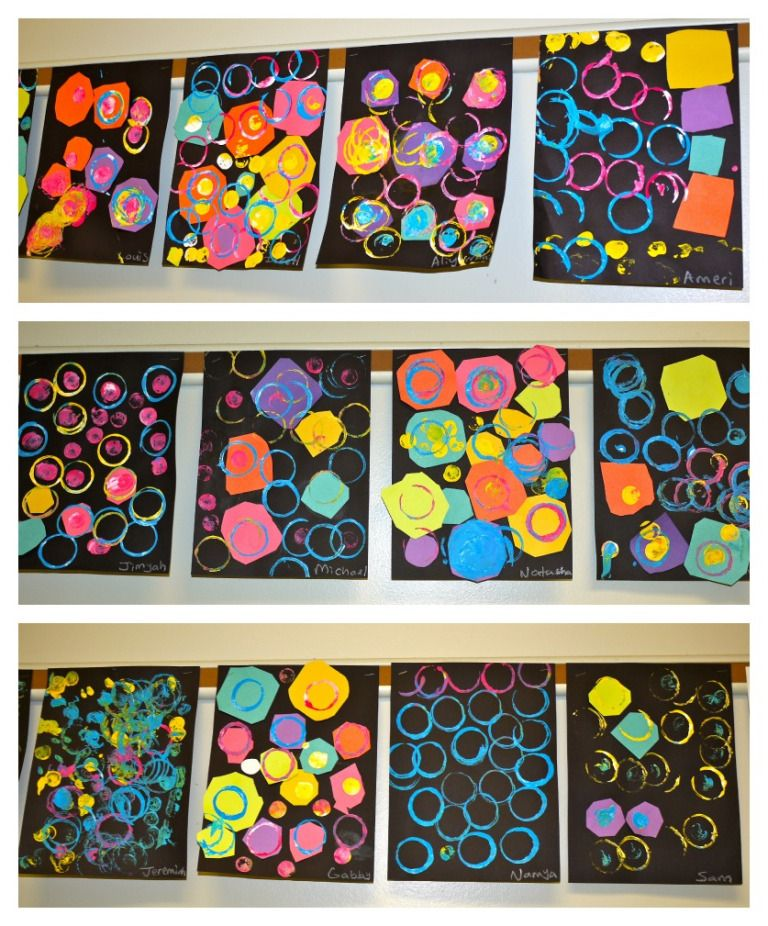 PRESCHOOL DOT COLLAGES is part of Art lessons elementary, Preschool art, Kindergarten art projects, Shapes kindergarten, Preschool art projects, Shape art - My PreK students were learning about the different types of shapes  To introduce circles, we read The Dot by Peter Reynolds  Students then used their cutting skills to trim multicolored squares in…