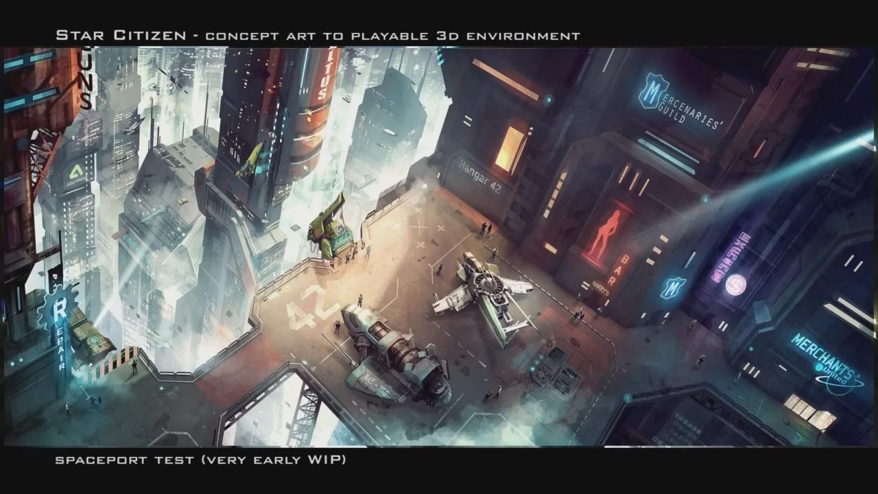 Star Citizen game art - Star Citizen Spaceport