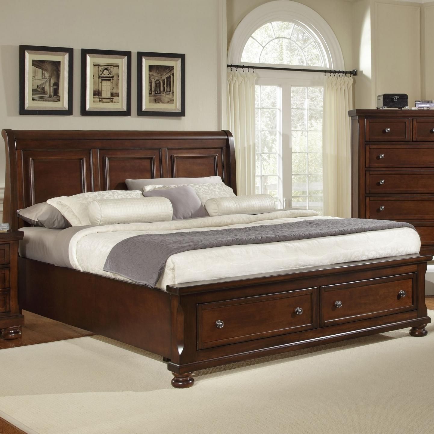 Best Reflections King Storage Bed With Sleigh Headboard By 400 x 300