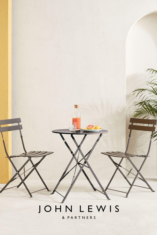 John Lewis Partners Camden Garden Bistro Table Chairs Set