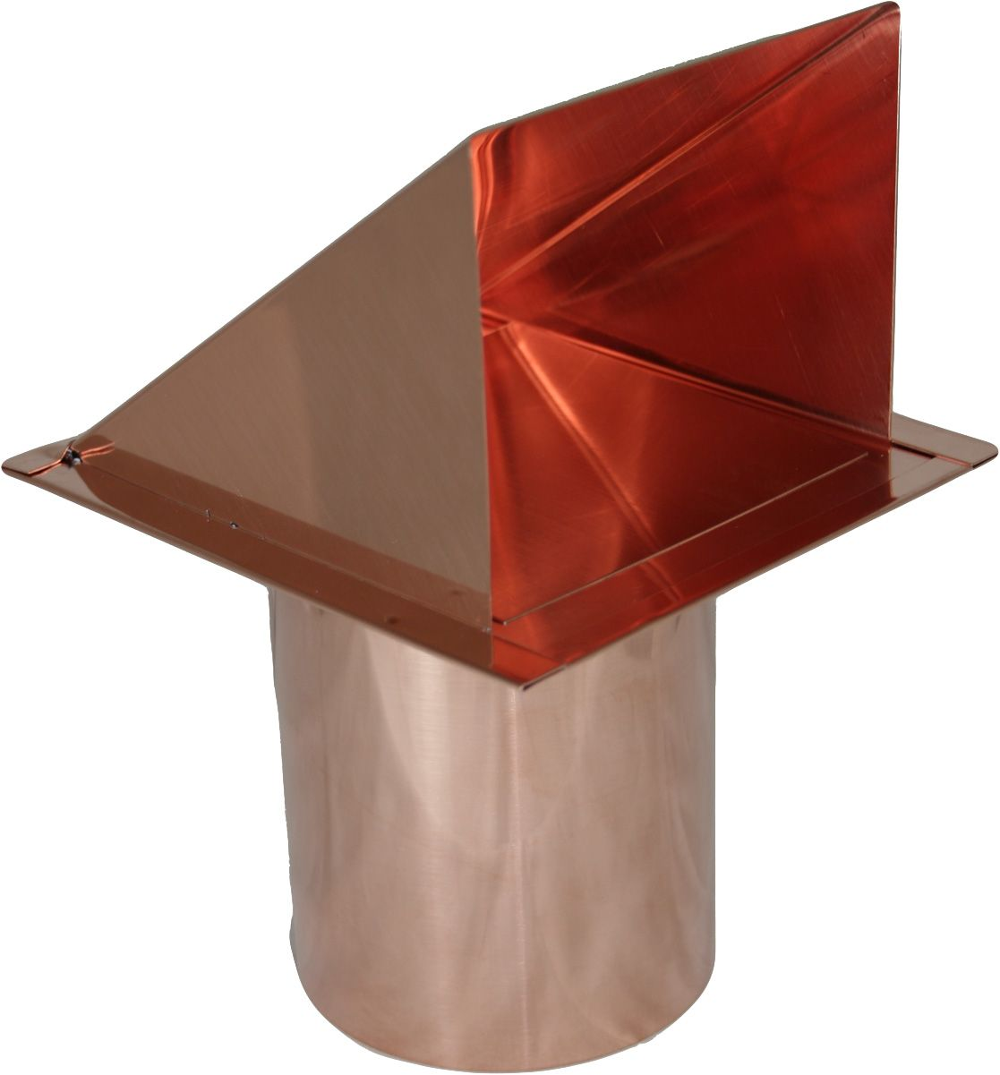 Copper 4 Inch Dryer Vent Cap With Damper Wall Vents Copper Wall Dryer Vent