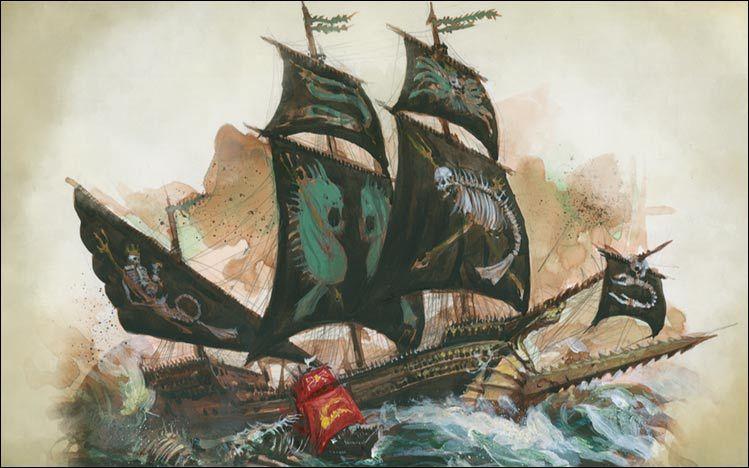 Dreadfleet le jeu de combat naval dans l 39 univers de for Dans jeannot et colin l auteur combat