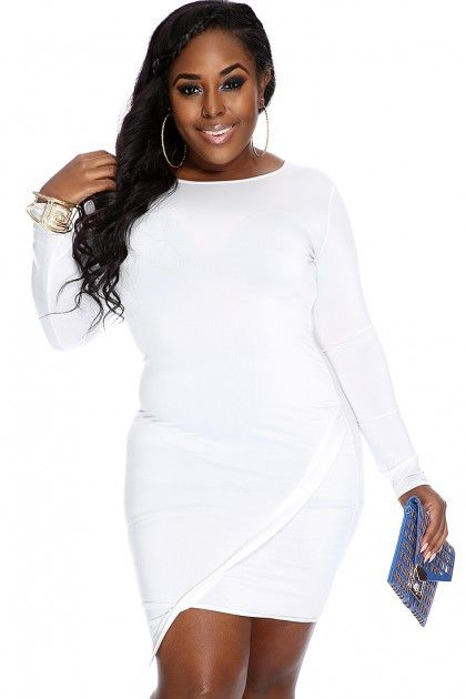 Stunning Plus Size Long Sleeve Club Dresses Pictures ...