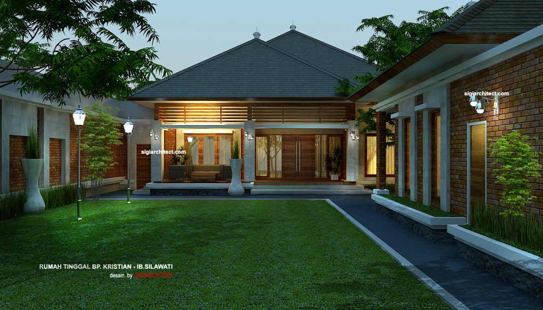 Desain Rumah Joglo Konsep Villa Sederhana Bergaya Tradisional